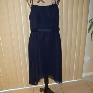 NWT! ALFRED ANGELO NAVY BRIDESMAIDS DRESS SIZE 16